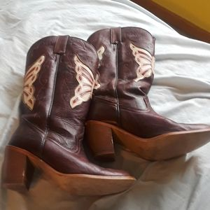 Dingo butterfly cowboy boots size 6.5